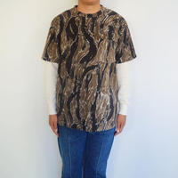 Needles Sportwear Crew Neck Tee - poly fleece / tiger camo