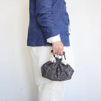 Suno&Morrison Silk cotton printed drawstring bag S