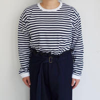 nanamica COOLMAX St. Jersey L/S Tee (navy/white) for women's