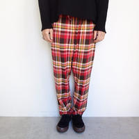 South2 West8  string slack pants-cotton twill/plaid