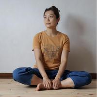 Women's草木染めオーガニックコットンTシャツ(HOSTEL結い庵)