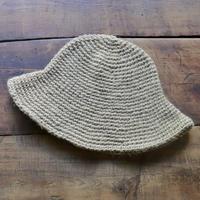 手編みジュートのアウトドアハット(生成り)