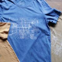 Women's藍染めオーガニックコットンTシャツ(HOSTEL結い庵)
