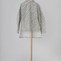 leopard highneck shirt ホワイト