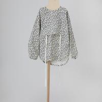 leopard tunic shirt ホワイト