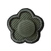 FT04080419 / EMBROIDERY BOUTONNIERE TWILL-  echinacea-