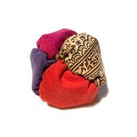 fuwafuwa〈ペイズリー×葡萄染×赤紫×赤〉