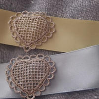 Heart lace チョーカー(silver)