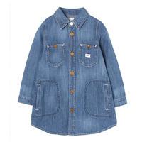 【Lee Kids】WORK DRESS(M.USED)/ワークドレス(中色ブルー)100〜140size