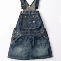 【Lee Kids】OVER ALL SKIRT(Mid Used)/オーバーオールスカート(中色ブルー)