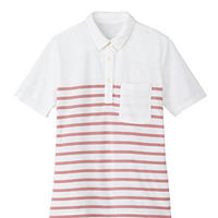 【Natural Smile】LADIES BORDER POLO SHIRT(Pink)/レディスボーダーポロシャツ(ピンク)