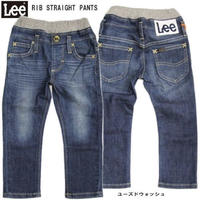 【Lee Kids】RIB STRAIGHT PANTS(Dark Used)/リブ ストレートパンツ(濃色ブルー)