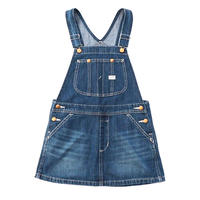 【Lee Kids】OVERALL SKIRT(D.USED)/オーバーオールスカート(濃色ブルー)130〜160size