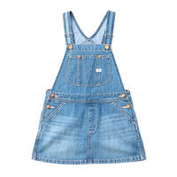 【Lee Baby】OVERALL SKIRT(L.USED)/オーバーオールスカート( 中色ブルー)80〜100size