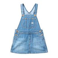 【Lee Kids】OVERALL SKIRT(L.USED)/オーバーオールスカート( 中色ブルー)110〜120size