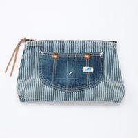 【Lee】OVERALL POUCH(Hickory×Mediumcolor Blue)/オーバーオールポーチ(ヒッコリー×中色ブルー)