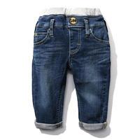 【Lee Kids】RIB STRETCH TAPERED(D.USED)/ベーシックリブストレッチテーパード(濃色ブルー)110〜120size