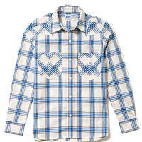 【Lee】MENS WESTERN CHECK SHIRTS(Blue)/メンズウエスタンチェック長袖シャツ(ブルー)
