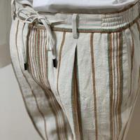 【PANTS】COPPIA DRAWCODE PANTS(受注販売品)※LINEN STRIPE