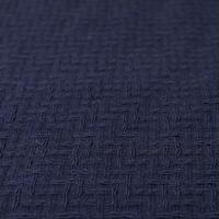 LINTON Navy Wool Fublic 75x50
