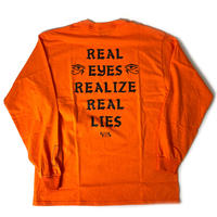 REAL EYES - LONG SLEEVE TEE - ORANGE -