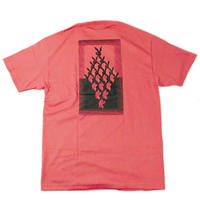 """SLOW BUT STEADY"" S/S T-SHIRT ( Coral / Black )"