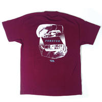 """FOREVER"" - Short Sleeve T-Shirt ( Maroon )"