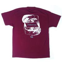 """FOREVER"" - Short Sleeve T-Shirt ( Maroon )"