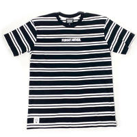 """SIMPLE LOGO"" BORDER S/S TEE ( BLACK / WHITE)"