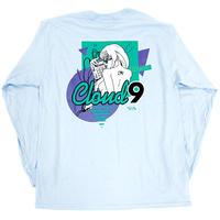 """CLOUD9"" L/S TEE ( Light Blue )"