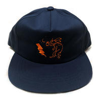 ANIMAL CYPHER - 5PANEL BALL CAP 【NAVY/ORANGE】