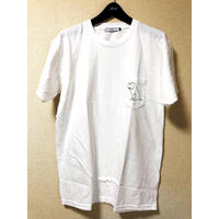 "forte ""Dog"" pocket T-shirts(White)"