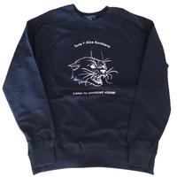 forte×Alice Korotaeva Raglan Organic Sweatshirt(Navy)裏起毛