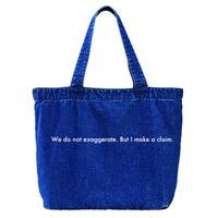 """forte """"Message"""" Denim Big Tote Bag (Dark Blue)"""