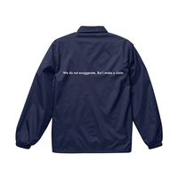 "forte""Message""Standard Coach Jacket(Navy)"