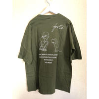 "【New Color】forte""MAKE""Big Silhouette pocket T-shirts(Moss Green) - General Price"