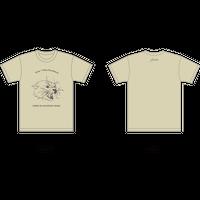 forte×Alice KorotaevaコラボレーションオーガニックTシャツ(Natural)