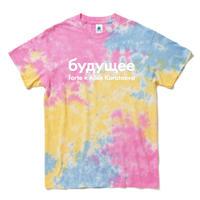 "forte×Alice Korotaeva Essentials ""Sweet"" tie-dye T-Shirts(Sherbet)"
