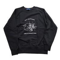 forte×Alice Korotaeva Raglan Organic Sweatshirt(Black)裏起毛