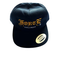 forte Unstructured 5Panel SnapbackCap (Black)