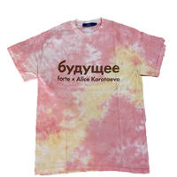 "forte×Alice Korotaeva Essentials ""Sweet"" tie-dye T-Shirts(Cake)"