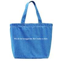 """forte """"Message"""" Denim Big Tote Bag (Light Blue)"""