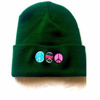 iSOLATED ARTS PEACE(i)LOGO KNIT CAP (Green) - General Price