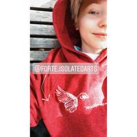 forte×Alice Korotaeva 2nd Collection Recycled Hoodie(Melange Plum)