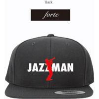 """【受注生産限定商品】forte""""JAZZMAN""""5panel-Snapback Cap(Black)【1/26まで】"""