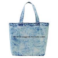 "forte ""Message"" Denim Big Tote Bag (Chemical Wash)"