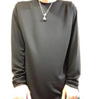 forte Dry Silky L/S Plain T-Shirts(Black)