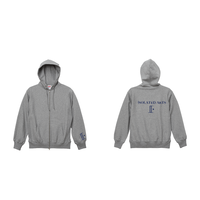 iSOLATED ARTS 12oz Heavy Weight Zip Hoodie(Gray)