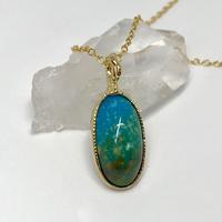 天然トルコ石(ターコイズ)ネックレス8.38ct☆アリゾナ・キングマン産の原石から磨いた1点もの