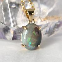天然オパールネックレス1.56ct☆ オーストラリア・CooberPedy産の原石から磨きました!